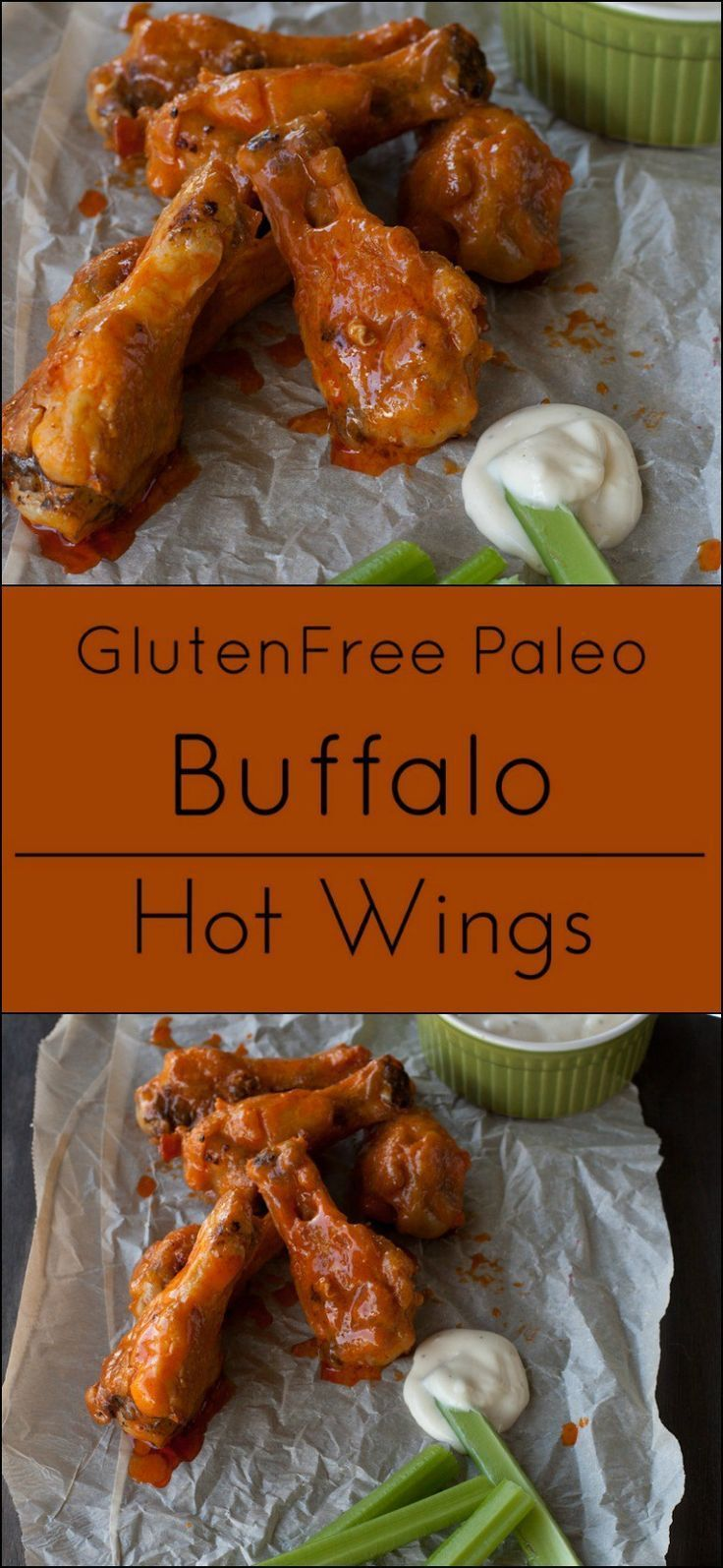 Easy Buffalo Hot Chicken Wings are naturally gluten free and Paleo ...