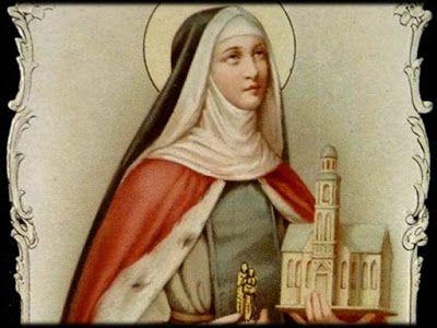 Gloriosa princesa santa Eduvigis, que abandonaste riquezas y lujos para servir al afligido, a