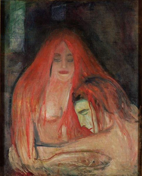 Munch - Vampire, 1896 (oil on canvas)