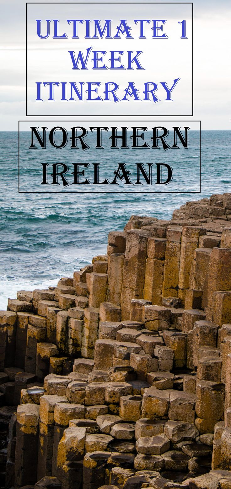A PERFECT 5 day itinerary for a roadtrip on the Causeway Coastal route in Northern Ireland that includes the Giants Causeway, Game of Thrones filming locations in Northern Ireland too! Complete info!