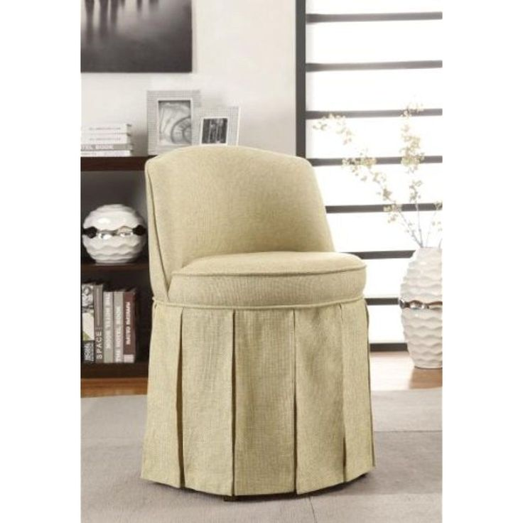 Coaster Home Furnishings 900072 Accent Seating Vanity Stool with Pleated Skirt, Beige >>> More info could be found at the image url. (This is an affiliate link and I receive a commission for the sales)