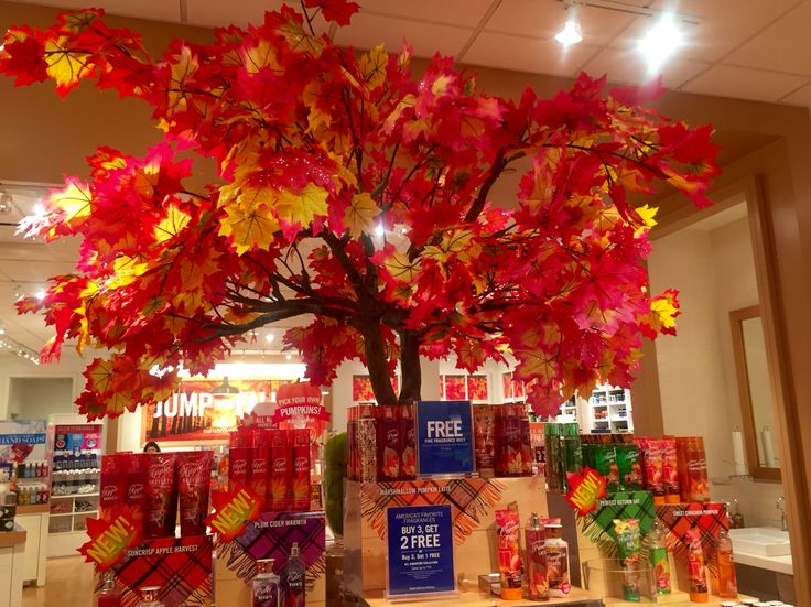 Bath Amp Body Works Fall Display Lovely Colors The Way The