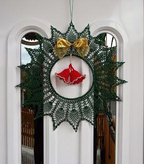 Szeretek horgolni: Karácsonyi ajtó disz.