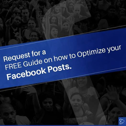 Request for a #FREE guide on how to optimize your #FacebookPosts