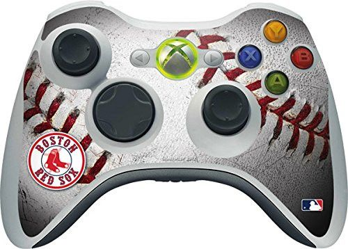 MLB Boston Red Sox Xbox 360 Wireless Controller Skin - Boston Red Sox Game Ball Vinyl Decal Skin For Your Xbox 360 Wireless Controller