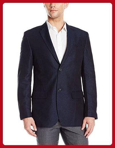 Perry Ellis Men's Linen Suit Jacket, Navy, 44 Regular - Mens world (*Amazon Partner-Link)