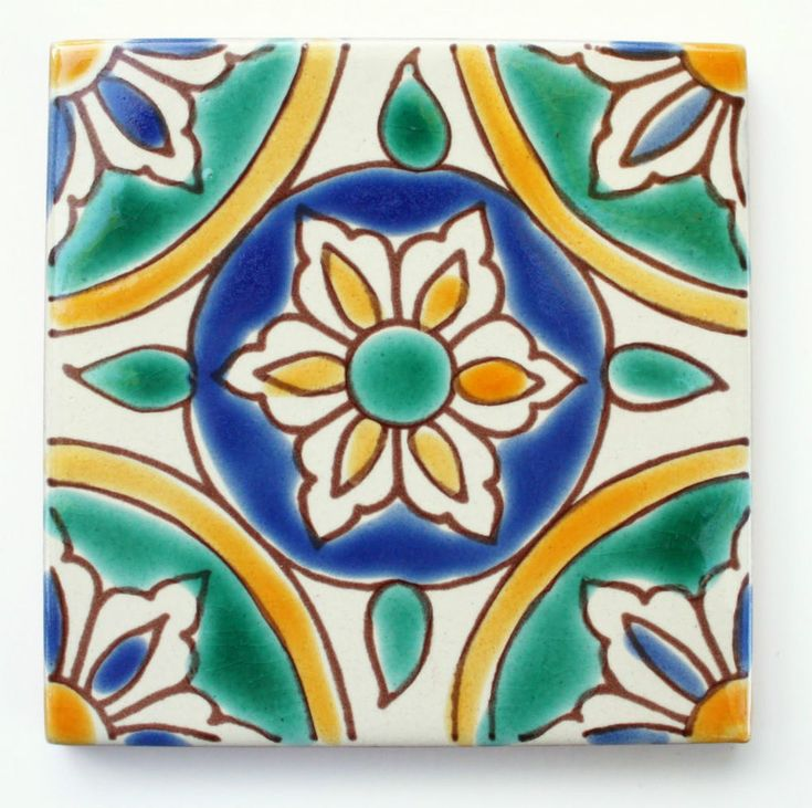 """Mediterranean Spanish Ceramic Tiles -  Granada - 4X 4"""""""