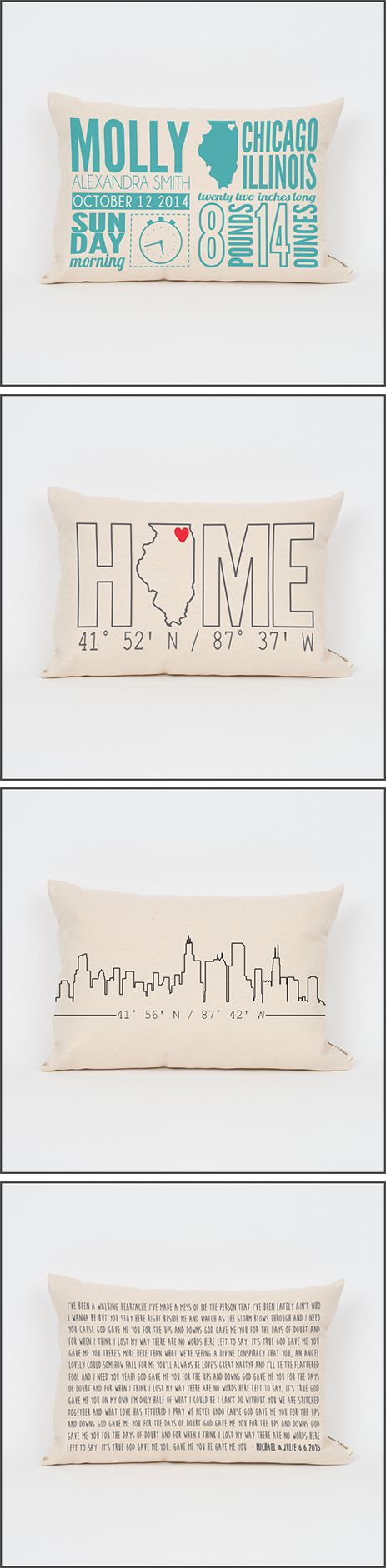 Handmade Personalized Pillows | www.finchandcotter.com