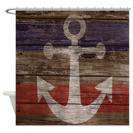 Nautical Anchor Shower Curtain Shower Curtain on CafePress.com