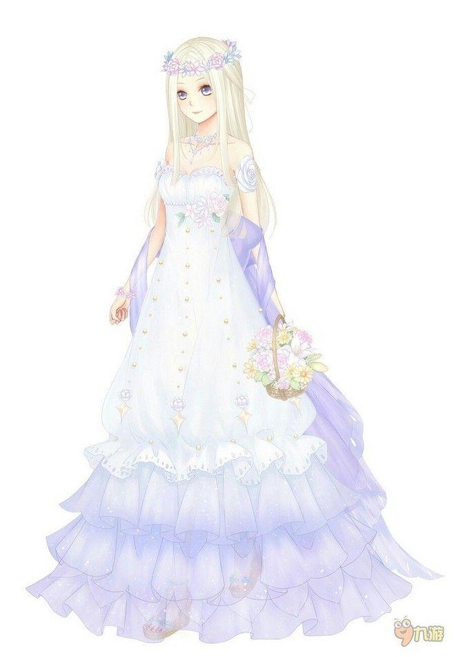 Anime girl wedding dress drawing the for Girl dress for wedding