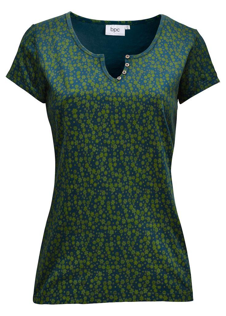 Camiseta stretch, manga curta azul petróleo/amarelo escuro estampado encomendar agora na loja on-line bonprix.de  R$ 49,90 a partir de Camiseta manga curta ...