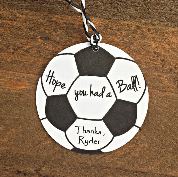Soccer Birthday Party Tags - Hope You Had a Ball!, Boys Soccer Birthday