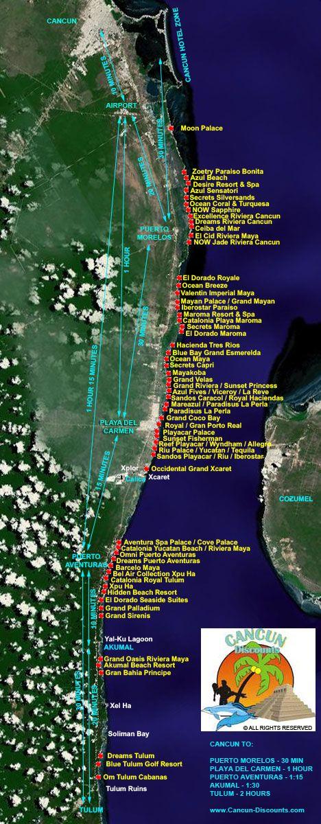 Riviera Maya Hotel Map 2012 71 best