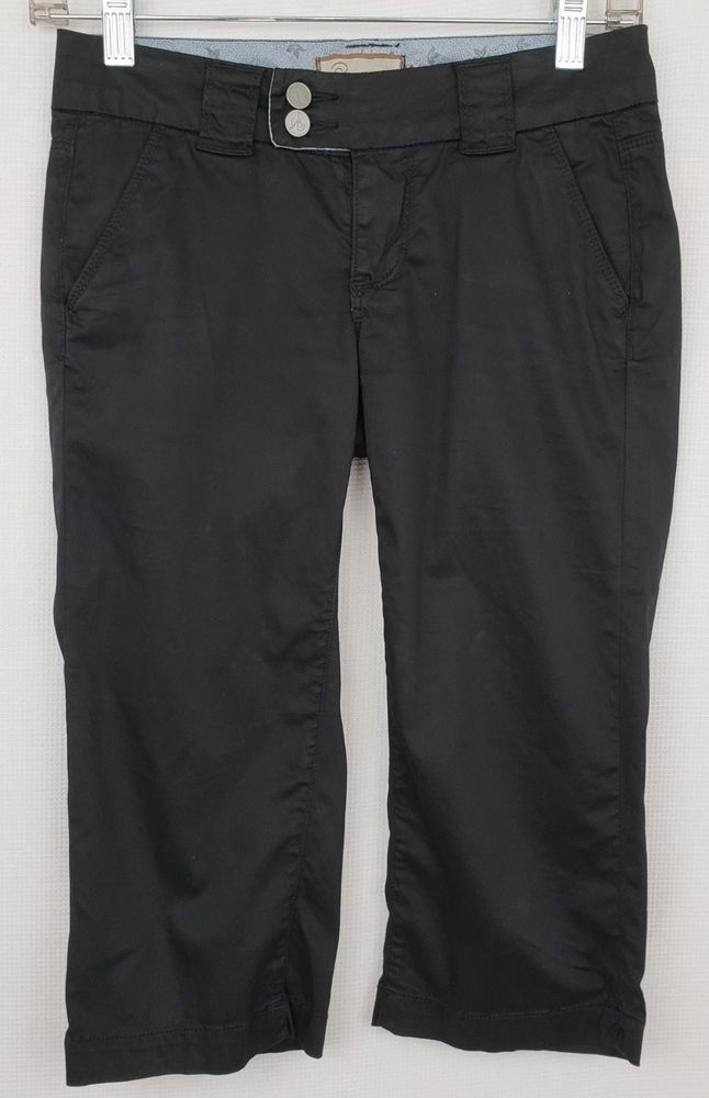 3bb1013ce3cc51 Paige Women's Black Peddle Pushers Cropped Bermuda Walking Pants Size 24  #PaigeDenim #CaprisCropped #Any