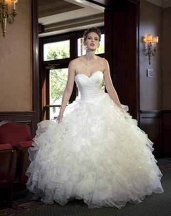 Sophia Moncelli Sweetheart Ball Gown in Organza