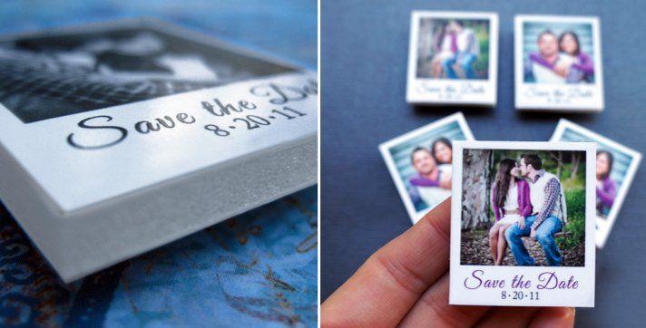 Mini-magnetic Polaroid #wedding Save The Dates! LOVE!!!