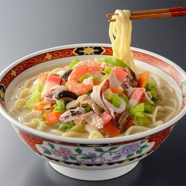 [ご当地グルメ:長崎]本場長崎のうまさを追求、具だくさんが魅力。【長崎具入りちゃんぽん・皿うどんセット】