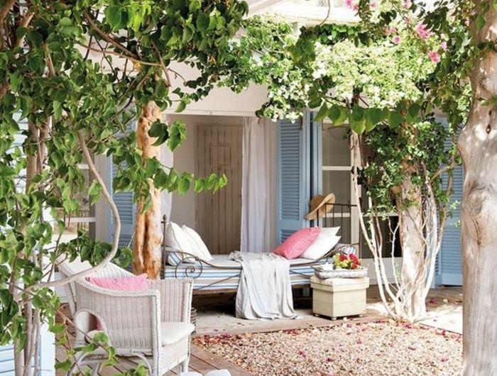 1001 Idees Pour Votre Terrasse Couverte Les Realisations Astucieuses Terrasse Jardin Jardins Et Terrasse Couverte