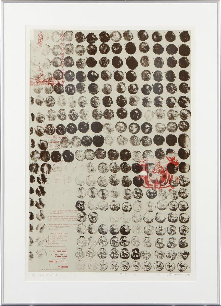 Jan-Kenneth Weckman, litografia, 64x42 cm - Hagelstam A125