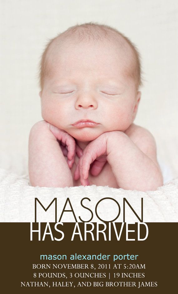 126 best Adoption Annoucements images – Birth Announcement Examples