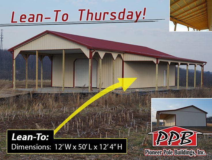 LeanTo Thursday! Building Dimensions 30' W x 70' L x 12
