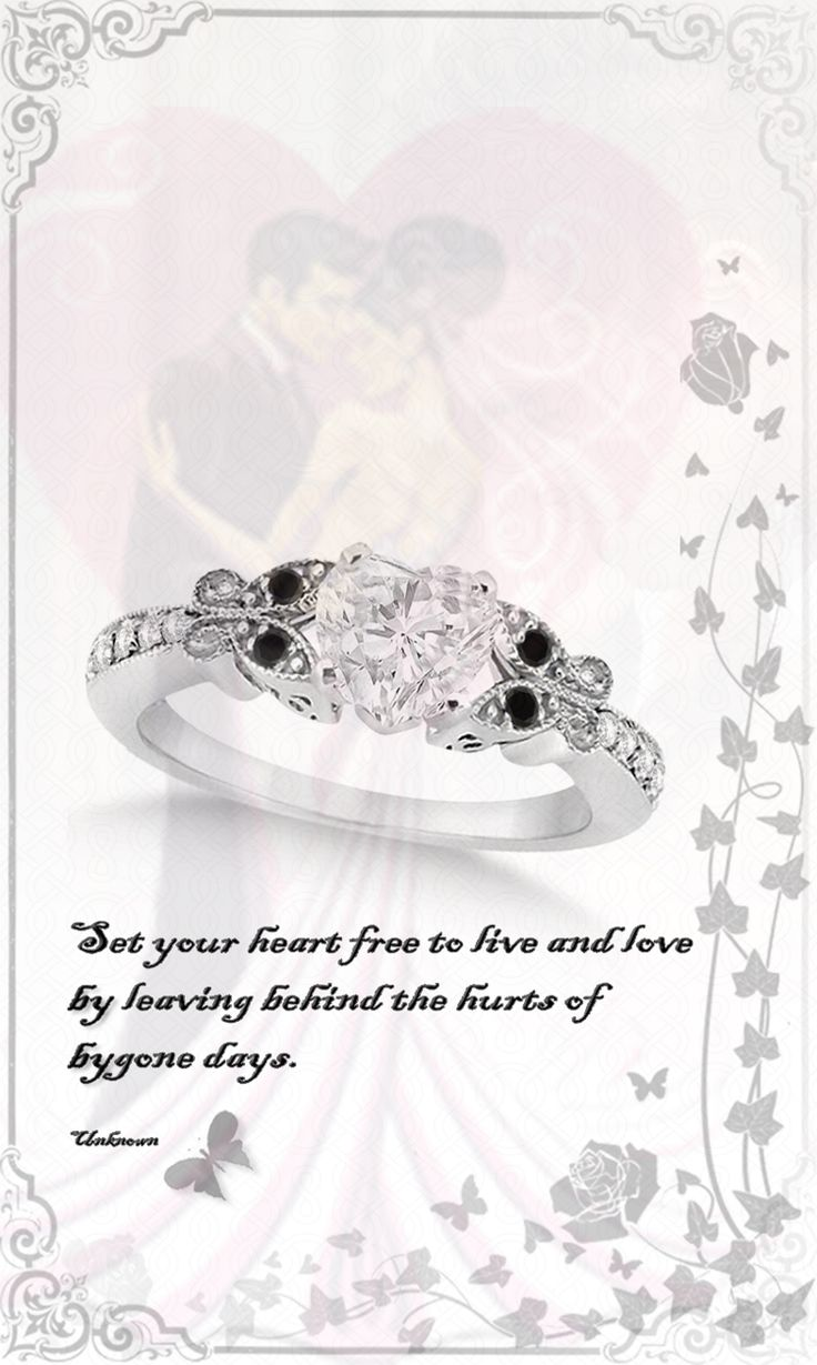 Black   and White Diamond Heart Butterfly Engagement Ring 14k W Gold 1.00ct by Allurez