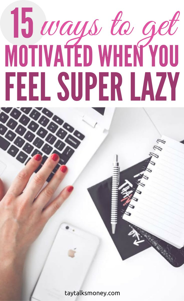 Learn 15 ways to get motivated and productive when you feel lazy and in the pit of a slump. There's a light at the end of the tunnel!