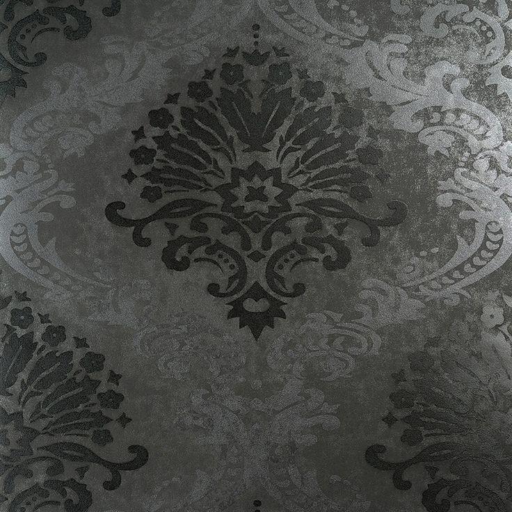 25 best ideas about grey damask wallpaper on pinterest. Black Bedroom Furniture Sets. Home Design Ideas