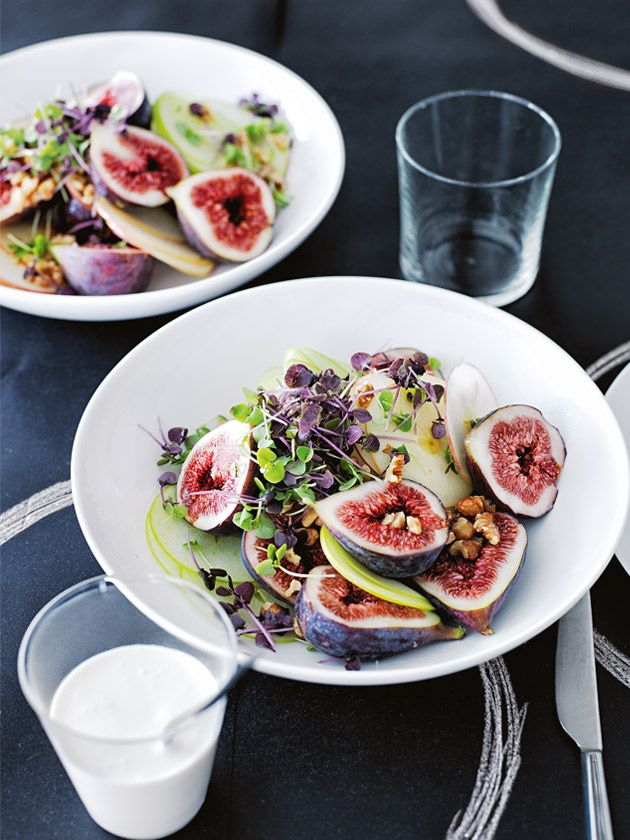 apple and fig salad with goat's curd dressing from Donna Hay Magazine Autumn 2015 Issue #80