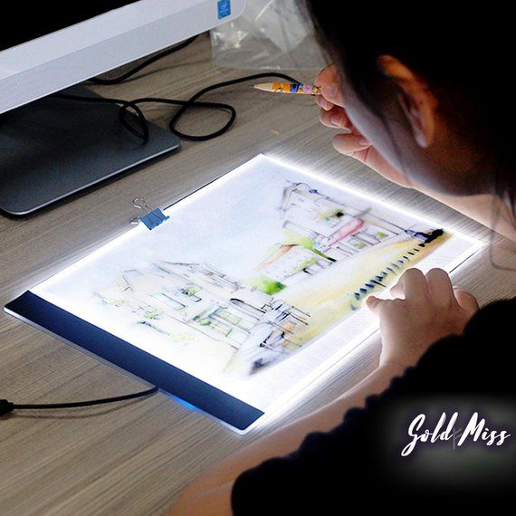 Best Light Box Tracing Tool Artists Tool Ultra Thin Led Light Pad Embroidery Tracing Light Pad Drafting Light Table Cross Stitch Tool Art Painting Accessories Drawing Table Led Light Box