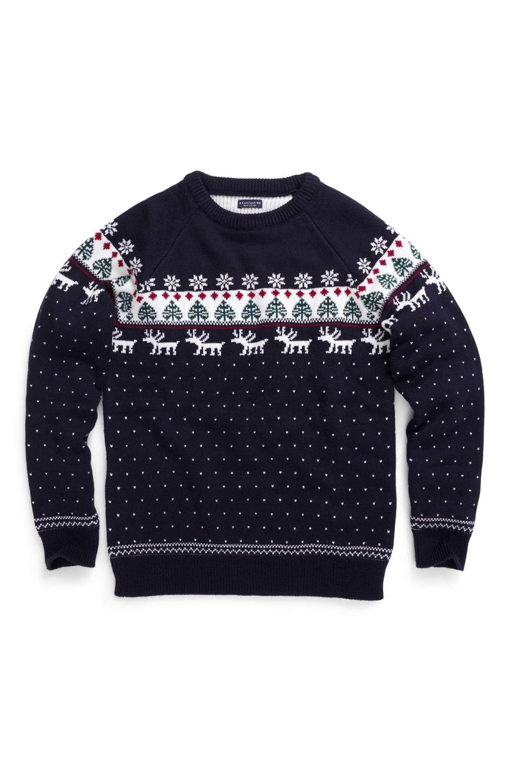 Buy Navy Pattern Crew Neck Jumper (3-16yrs) from the Next UK online shop £19
