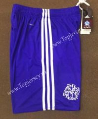 2017/18 Olympique Marseille Second Away Blue Thailand Soccer Shorts
