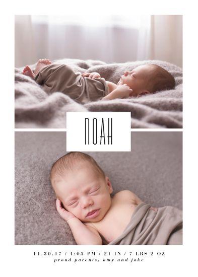 birth announcements - modernique by lena barakat
