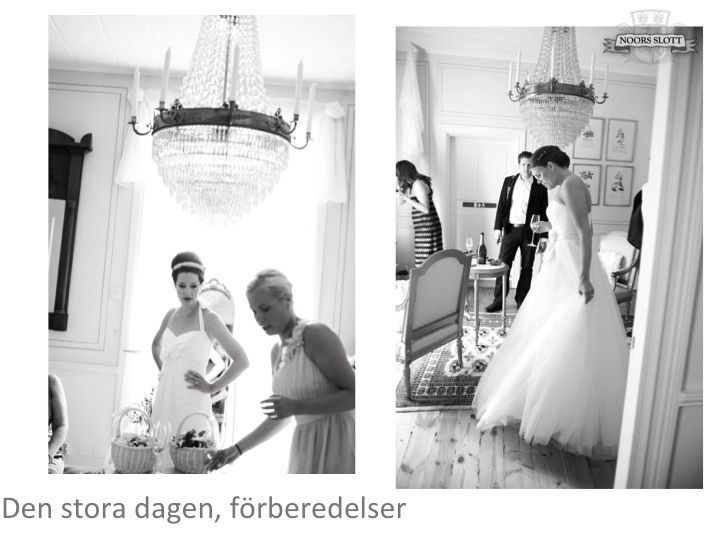 Förberedelser, klänningar, bröllop, slottet, sviten
