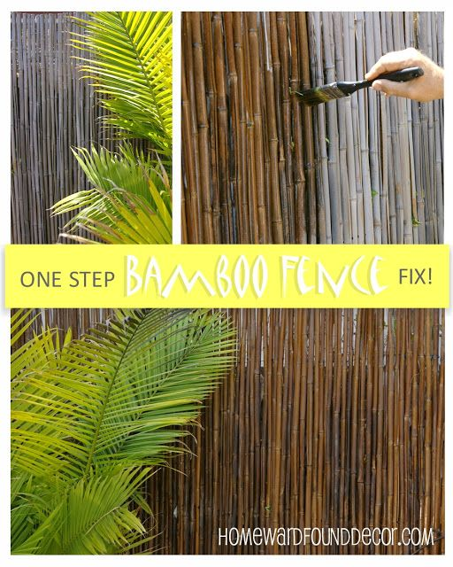 Here's a tip from HOMEWARDfound Decor's 3-part series 'Thrifty Weekend Makeover': shellack will bring your bamboo fencing back to life!