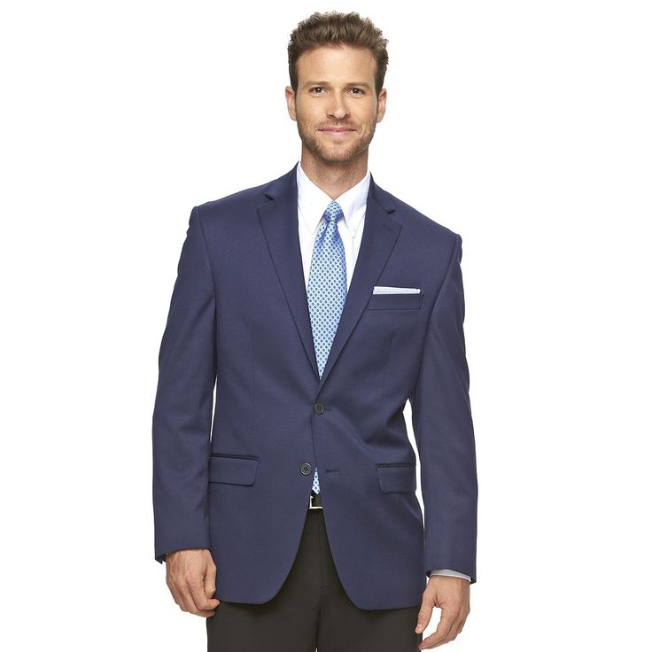 Men's Chaps Classic-Fit Performance Blazer, Size: 40 - regular, Blue (Navy)