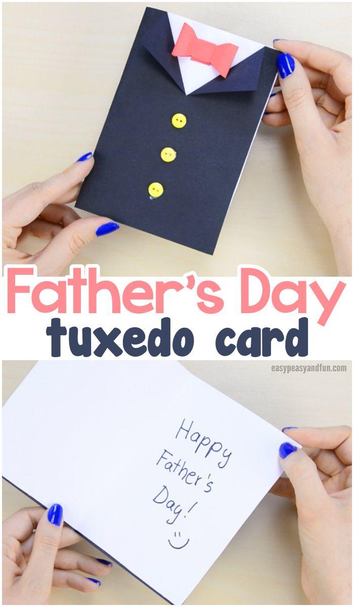 Diy Father S Day Tuxedo Card Tuxedo Card Diy Father S Day Cards Father S Day Diy