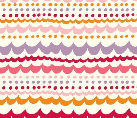 scallop_pink fabric by stacyiesthsu on Spoonflower - custom fabric