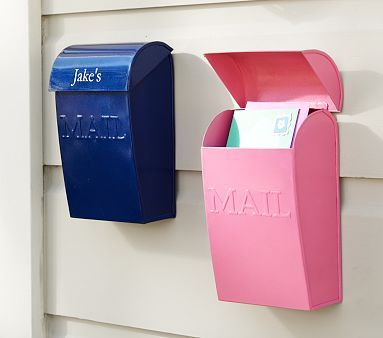 Kids' Mailboxes - could be very sweet mounted outside the bedroom!