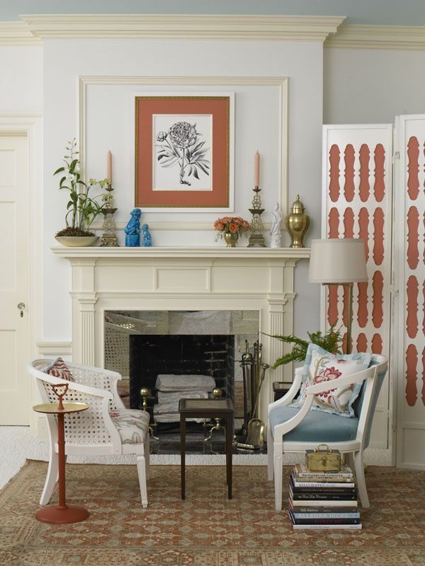 mantel: Decor Ideas, Southern Living, Eddie Ross, Bedrooms Makeovers, Antiques Mirror, Decor Bedrooms, Fireplaces Surroundings, Marketing Bedrooms, Bedrooms Fireplaces