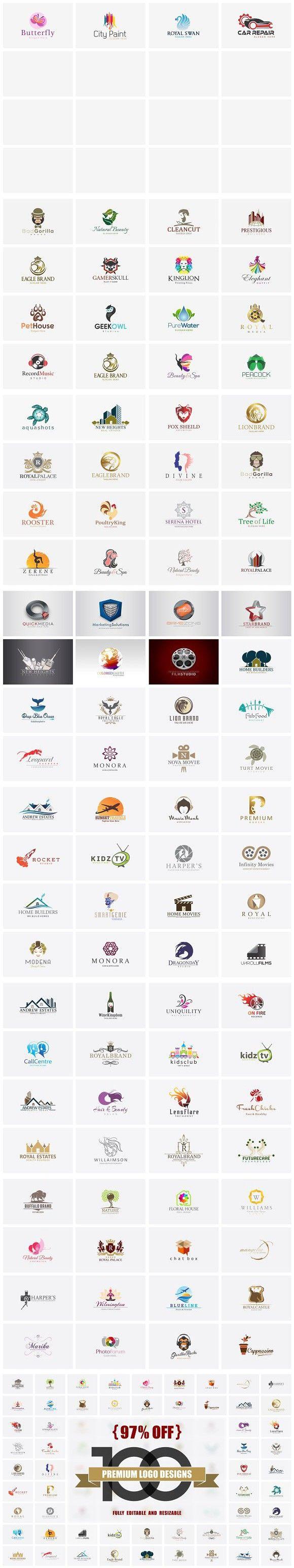97 Off 100 Premium Logo Designs Logo Design Premium Logo Business Solutions Logo