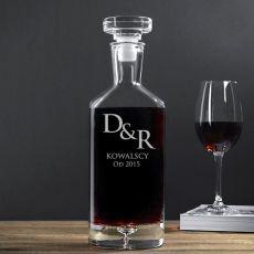 Grawerowana karafka do wina INICJAŁY idealny na urodziny