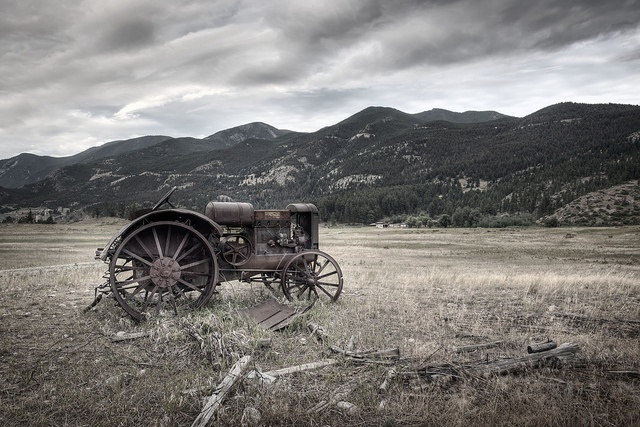Old Tractor, Montana Ranch by Michael Tuuk, via Flickr