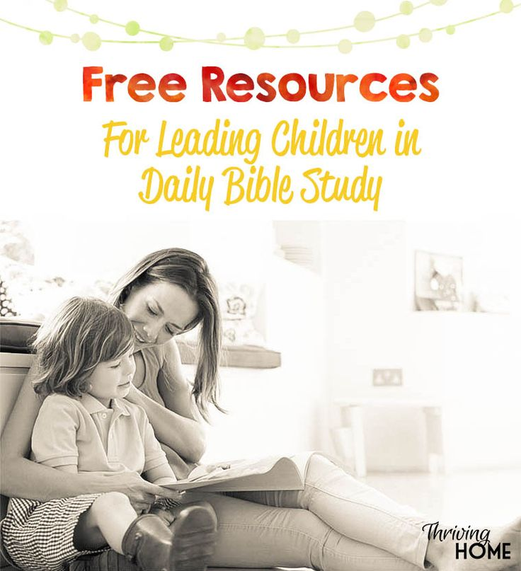 The idea of spiritually leading your child can be overwhelming. Use this great free resource for practical ways to lead children in daily Bible study.