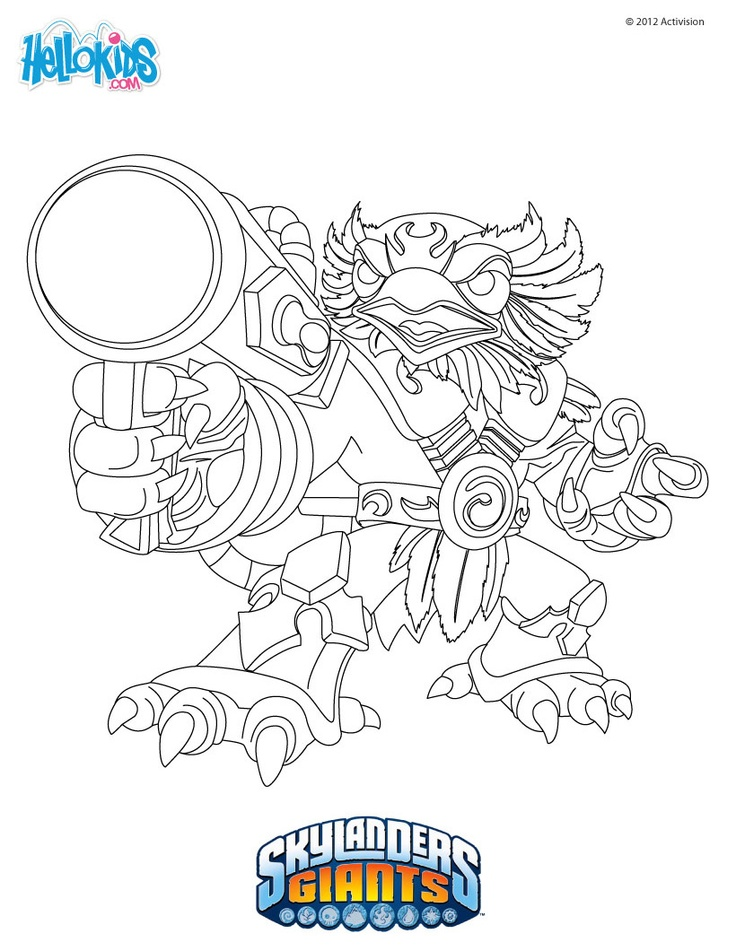 skylander flashwing coloring pages - photo#10