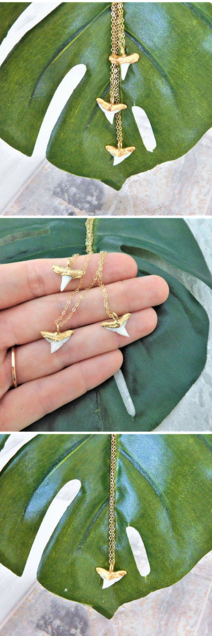 Gold Dipped Shark Tooth Necklace, White Shark Tooth Necklace, Dainty Shark Tooth Necklace, Shark Tooth Charm Necklace, Shark Tooth Jewelry, Shark Teeth Jewelry, Shark Tooth, Shark Tooth Choker, Boho Choker, Summer Choker, Beach Choker, Beach Necklace, Summer Neckalce, Gold Dipped Neckalce, Electroformed Necklace, Shark Tooth Necklace
