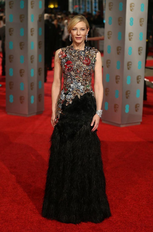 Cate Blanchett In custom Alexander McQueen / BAFTA Awards 2016