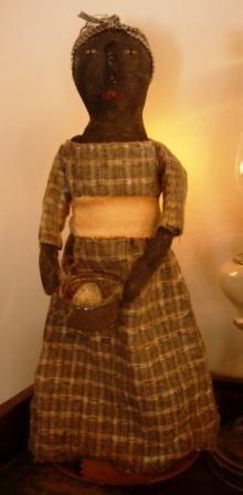 Folk doll on masher by Marcy Dailey/ Fawn Run Farm Mercantile
