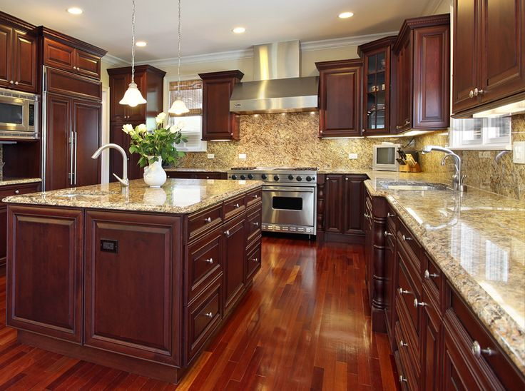 Consider installing veined granite tiles that will provide a rich, warm look for any kitchen. Description from myhomeus.com. I searched for this on bing.com/images
