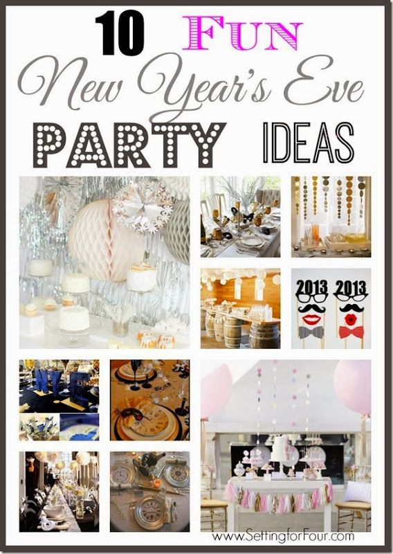 10 Fun New Year's Eve Party Ideas! Ringin in the New  Year by throwing a party?  Party hats, streamers, backdrops, photo props, table decor and more!